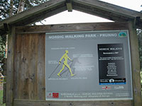 cartello percorso nordic walking baita prunno asiago