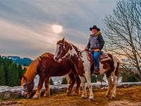 Equitazione alla malga