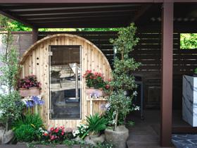 die Sauna auf der Terrasse des Sporthotels von asiago