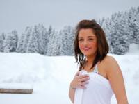 Der Kneippweg auf dem Schnee der Campolongo Hütte