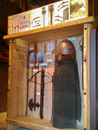 Reperti storici nel museo della torre scaligera