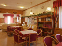 Die Halle des Hotels