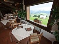 Der Speisesaal mit Panoramablick