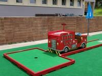 Parco millepini camion dei pompieri
