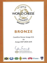 Premio World Cheese Awards Asiago Dop Grun Alpe