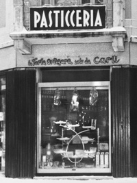 Carli Gebäck von 1961 bis 2016 auf der Piazza Mazzini