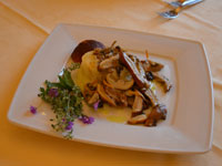 piatto millefoglie di polenta