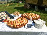 buffet antipasti giardino ristorante