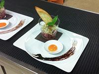 Tuorlo uovo e carne cruda
