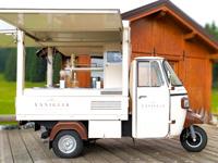 Der Eiswagen im Campolongo Sanctuary