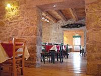 Sala ristorante del rifugio campolongo