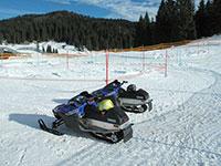 Campomulo parco giochi sulla neve tracciato motoslitte