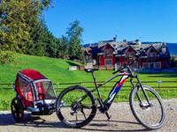 Vermietung von E-Bikes mit Kinderwagen