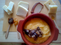 Polenta formaggio e funghi