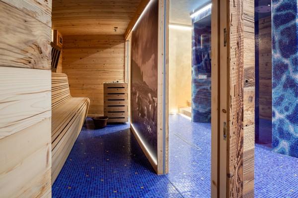 Finnish sauna area bio plateau of Asiago