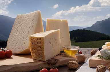 Typical products of the Plateau di Asiago