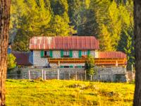 View of Malga Larici di Sotto