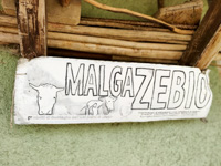 Sale of mountain products by Malga Zebio