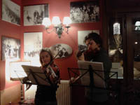 Concerto violini ristorante adler