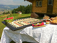 Dettaglio buffet all aperto