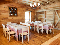Refined and rustic environment of the Val Formica Restaurant