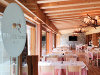 The entrance of the Restaurant Rifugio Val Formica