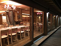 The restaurant room Val Formica seen from the outside