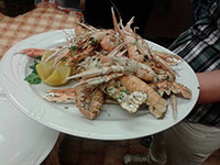 Langoustines at the irons