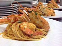 Spaghetti with langoustines
