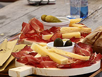 Platter of speck and cheese