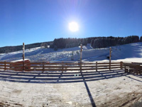 La vista invernale dal ristorante la terrazza