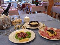 piatti del rifugio verenetta ristorante