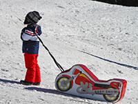 Bambino traina moto gonfiabile winter park val formica
