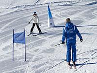 Maestro sci e bambino val formica