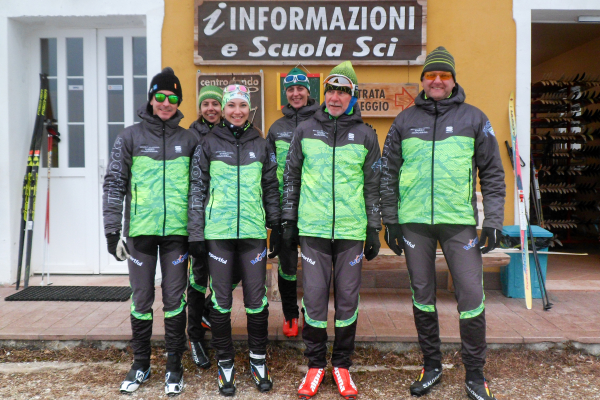 The instructors of the Enego Cross Country Ski School