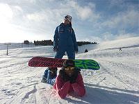 scuola sci larici val formica istruttori snowboard