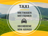 Taxi and car rental on the Asiago Plateau
