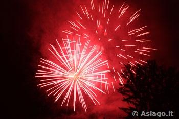 Fuochi d'artificio ad Asiago