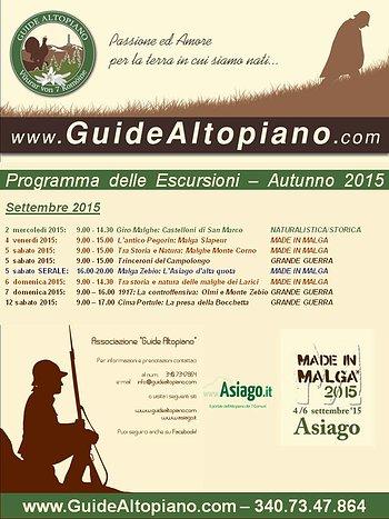 Escursioni Autunnali 2015 Guide Altopiano