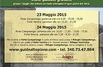 """Escursione """"I Luoghi della Grande Guerra"""" - Forte Campolongo 23 Maggio"""
