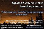 Forte Campolong-Visita guidata con GuideAltopiano - Sabato 12 Settembre NOTTURNA