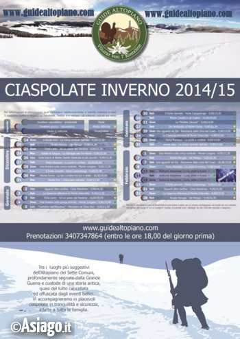 SNOWSHOEING TOURS Nov/Dec 2014 of ASIAGO PLATEAU