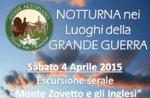 Escursione Guidata Storica Guide Altopiano Monte Zovetto 4 Aprile SERALE