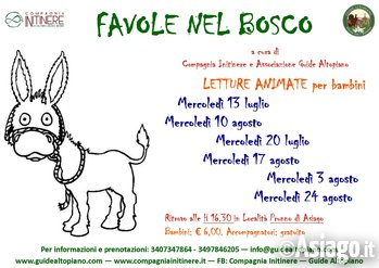 FAVOLE nel BOSCO: Letture Animate con GUIDE ALTOPIANO dal 13 luglio 2016