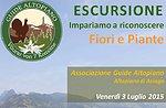 Escursione Naturalistica con GuideAltopiano Fiori e Piante venerdì 3 Luglio