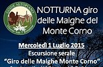 Geführte Mountain-Monte Corno Natur Lusiana 1. Juli 2015 am Abend