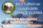 """Geführte Schneeschuhwanderung historischen """"Monte Corno"""" mit Guide-30 Dezember Abend Plateau"""