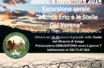 """Escursione Guidata Storica """"Monte Erio"""" con Guide Altopiano - 8 Novembre SERALE"""