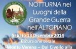 """Geführte Schneeschuhtour historischen Monte Verena """"mit Guide-13 Dezember Abend Plateau"""