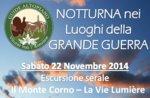 """Escursione Guidata Storica """"Monte Corno"""" con Guide Altopiano -22 Novembre SERALE"""